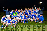 Templenoe players and management celebrate after defeating  Coolmeen in the Munster Junior Championship final in Mallow on Sunday