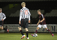 Billy King on the ball in the St Mirren v Heart of Midlothian Clydesdale Bank Scottish Premier League U20 match played at St Mirren Park, Paisley on 6.11.12.