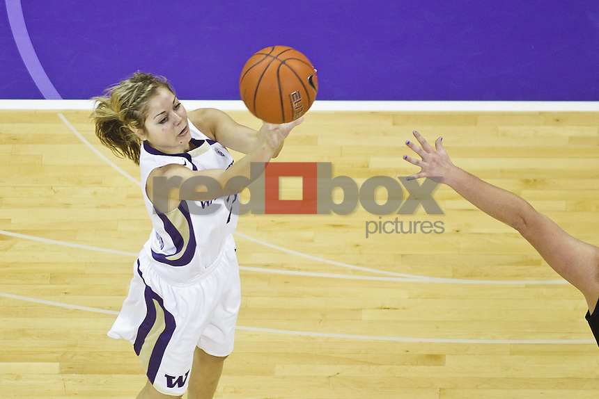 Kellie McCann-Smith - University of Washington Huskies women's basketball team takes on University of Oregon Ducks at Alaska Airlines Arena in Seattle Thursday, Feb. 9, 2012. (Photos by Andy Rogers/Red Box Pictures)
