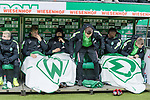13.01.2018, Weser Stadion, Bremen, GER, 1.FBL, Werder Bremen vs TSG 1899 Hoffenheim, im Bild<br /> <br /> Auswechselbank<br /> Jerome Gondorf (Werder Bremen #8)<br /> Johannes Eggestein (Werder Bremen #24)<br /> Ole K&auml;uper / Kaeuper (Werder #14)<br /> Robert Bauer (Werder Bremen #4)<br /> Aron J&oacute;hannsson / Johannsson (Werder Bremen #9)<br /> Foto &copy; nordphoto / Kokenge