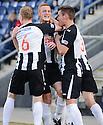 Pars' Ryan Thomson (centre) celebrates after he scores Dunfermline's second  ...