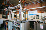 The Ice Energy Test Bay is filled with test unit Ice Cubs (smaller Ice Bears) at Ice Energy in Glendale, California, December 17, 2014. The company's Ice Bear uses frozen water to replace the cooling power of large air conditioning units.