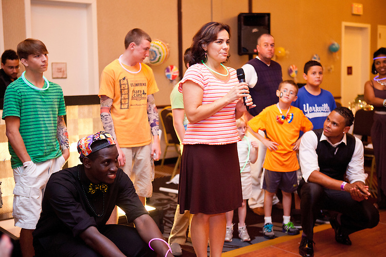 Families at the Share and Care Network's annual retreat held on August 3, 2013.