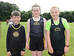 Dunleer AC runners Sean McEvoy, Saoirse Holmes and Aisling Matthews who took part in Ardee sports day. Photo:Colin Bell/pressphotos.ie