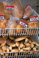 Bread sold at an outdoor market.  Rawa Mazowiecka  Central Poland