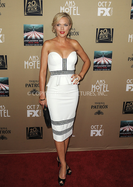 WWW.ACEPIXS.COM<br /> <br /> October 3 2015, LA<br /> <br /> Elaine Hendrix arriving at the premiere of FX's 'American Horror Story: Hotel' at the Regal Cinemas L.A. Live on October 3, 2015 in Los Angeles, California.<br /> <br /> <br /> By Line: Peter West/ACE Pictures<br /> <br /> <br /> ACE Pictures, Inc.<br /> tel: 646 769 0430<br /> Email: info@acepixs.com<br /> www.acepixs.com