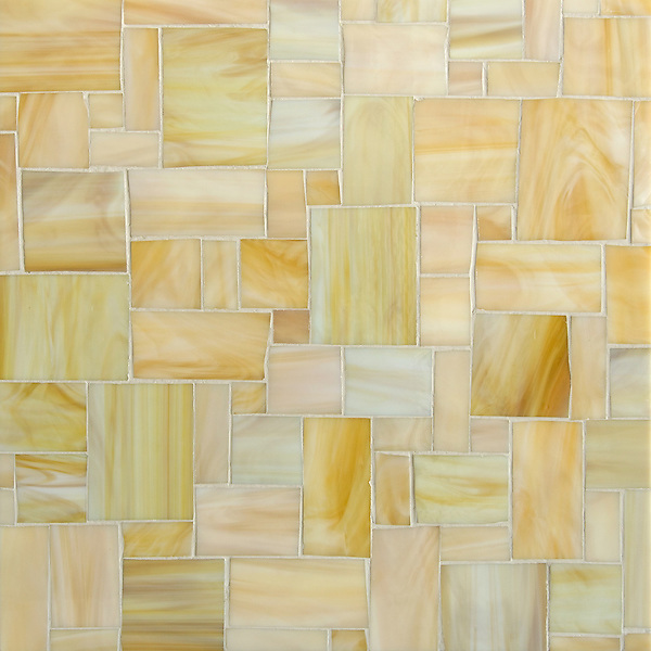 Block Party Jewel glass mosaic hand-cut field shown in Agate.