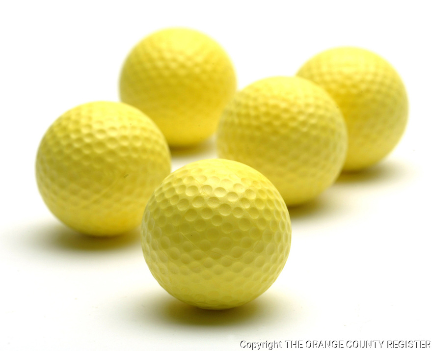 Yellow Golf Balls - Portfolio only.