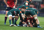 9th December 2017, Thomond Park, Limerick, Ireland; European Rugby Champions Cup, Munster versus Leicester Tigers; Ben Youngs, Leicester Tigers, controls the ball at the base of a ruck