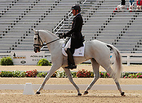 LEXINGTON, KY - April 27, 2017. #11 Cracker Jack and Boyd Martin from the USA finish in 7th place on the first day of Dressage at the Rolex Three Day Event at the Kentucky Horse Park.  Lexington, Kentucky. (Photo by Candice Chavez/Eclipse Sportswire/Getty Images)