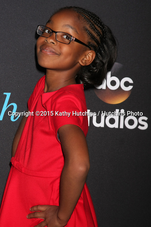 "LOS ANGELES - FEB 17:  Marsai Martin at the ""Black-ish"" ATAS event at the Silver Screen Theater at Pacific Design Center on April 17, 2015 in Los Angeles, CA"