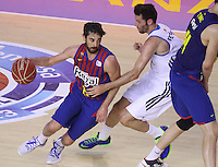 16.06.2013 Barcelona, Spain. Liga Endesa . Playoff game 4 Picture show Juan Carlos Navarro in action during game between FC Barcelona against Real Madrid at Palau Blaugrana