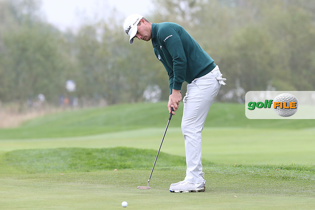 Mr Consistent. Lucas Bjerregaard (DEN) completed his third round of 68 during the Third Round of the Porsche European Open 2015 played at Golf Resort Bad Griesbach, Bad Griesbach, Germany.  26/09/2015. Picture: Golffile   David Lloyd<br /> <br /> All photos usage must carry mandatory copyright credit (&copy; Golffile   David Lloyd)