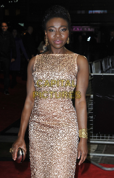 LONDON, ENGLAND - OCTOBER 12: Muna Otaru attends the &quot;The Keeping Room&quot; Official Competition screening, 58th LFF day 5, Odeon West End cinema, Leicester Square, on Sunday October 12, 2014 in London, England, UK. <br /> CAP/CAN<br /> &copy;Can Nguyen/Capital Pictures