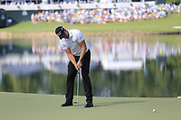 Henrik Stenson (SWE) putts on the 14th green during Thursday's Round 1 of the 2017 PGA Championship held at Quail Hollow Golf Club, Charlotte, North Carolina, USA. 10th August 2017.<br /> Picture: Eoin Clarke | Golffile<br /> <br /> <br /> All photos usage must carry mandatory copyright credit (&copy; Golffile | Eoin Clarke)