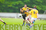 William Kirby Austin Stacks in action against Damien Somers Feale Rangers in the County Championship in Listowel on Sunday