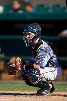 Lakeland Flying Tigers catcher Jon Rosoff (29) during a Florida State League game against the Dunedin Blue Jays on May 18, 2019 at Publix Field at Joker Marchant Stadium in Lakeland, Florida.  Dunedin defeated Lakeland 3-2 in eleven innings.  (Mike Janes/Four Seam Images)