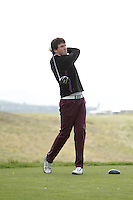 Steffan O'Hara (Co. Sligo) on the 5th tee during round 2 of The West of Ireland Amateur Open in Co. Sligo Golf Club on Saturday 19th April 2014.<br /> Picture:  Thos Caffrey / www.golffile.ie