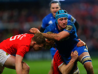 28th December 2019; Thomond Park, Limerick, Munster, Ireland; Guinness Pro 14 Rugby, Munster versus Leinster; Will Connors of Leinster is tackled by Mike Haley of Munster - Editorial Use