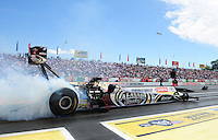 Jun. 2, 2012; Englishtown, NJ, USA: NHRA top fuel dragster driver Shawn Langdon during qualifying for the Supernationals at Raceway Park. Mandatory Credit: Mark J. Rebilas-