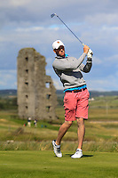 Liam Harnett (Milltown) on the 13th tee during Round 2 of The South of Ireland in Lahinch Golf Club on Sunday 27th July 2014.<br /> Picture:  Thos Caffrey / www.golffile.ie
