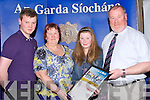 STAR: Cliona Palmer (Killarney) Kerry Stars Special Olympic) who was awarded with the Lee Strand Garda Youth Merit Award in The Brandon Hotel, Tralee on Friday night with her parent and family, L-r: David Palmer, Pat, Cliona and Tom Palmer.....