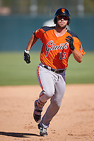 San Francisco Giants Matt Winn (13) during an Instructional League game against the Oakland Athletics on October 5, 2016 at Fitch Park in Mesa, Arizona.  (Mike Janes/Four Seam Images)