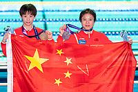 CHEN Yuxi CHN CHINA Gold Medal, LU Wei CHN CHINA Silver Medal<br /> Gwangju South Korea 17/07/2019<br /> Diving 10m Platform Final<br /> 18th FINA World Aquatics Championships<br /> Nambu University Aquatics Center <br /> Photo © Andrea Staccioli / Deepbluemedia / Insidefoto