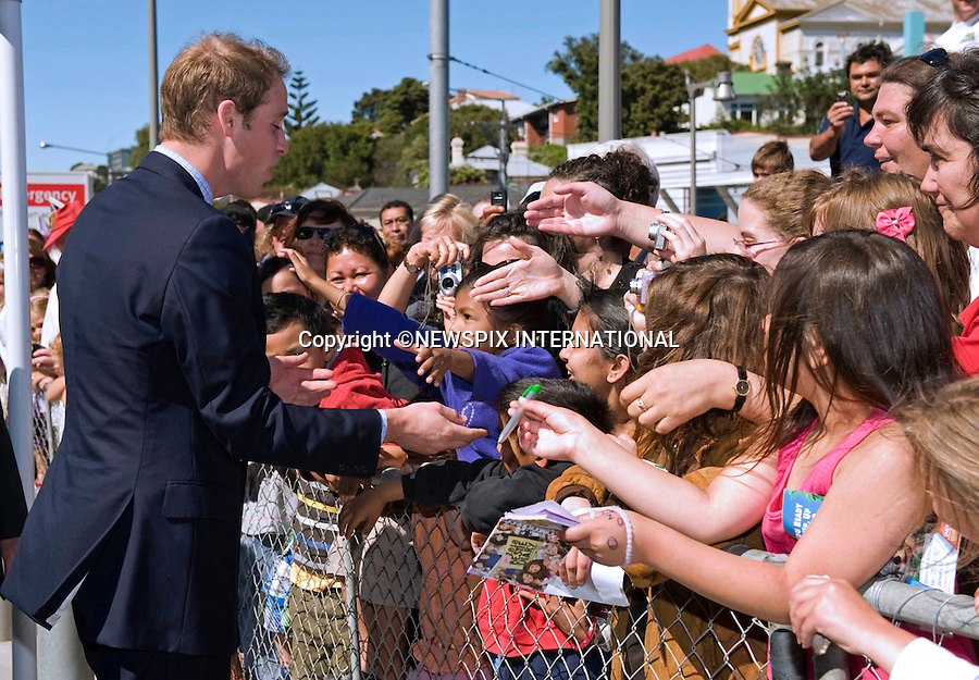 """PRINCE WILLIAM.visited the children's ward of  Wellington Regional Hospital of the final day of his official tour to New Zealand, before departing for Australia..The Prince was greeted by Sam Jackson a Kaumatua (Maori Elder) and Prime Minister John Key. He received a warm greeting from members of the public when he did a walkabout, Wellington, New Zealand_19/01/2010 .Mandatory Credit Photo: ©DIAS-NEWSPIX INTERNATIONAL..**ALL FEES PAYABLE TO: """"NEWSPIX INTERNATIONAL""""**..IMMEDIATE CONFIRMATION OF USAGE REQUIRED:.Newspix International, 31 Chinnery Hill, Bishop's Stortford, ENGLAND CM23 3PS.Tel:+441279 324672  ; Fax: +441279656877.Mobile:  07775681153.e-mail: info@newspixinternational.co.uk"""