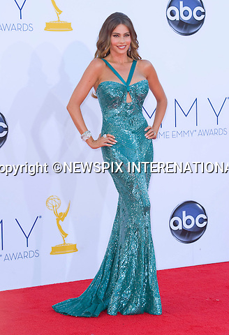 "SOFIA VEGARA - 64TH PRIME TIME EMMY AWARDS.Nokia Theatre Live, Los Angelees_23/09/2012.Mandatory Credit Photo: ©Dias/NEWSPIX INTERNATIONAL..**ALL FEES PAYABLE TO: ""NEWSPIX INTERNATIONAL""**..IMMEDIATE CONFIRMATION OF USAGE REQUIRED:.Newspix International, 31 Chinnery Hill, Bishop's Stortford, ENGLAND CM23 3PS.Tel:+441279 324672  ; Fax: +441279656877.Mobile:  07775681153.e-mail: info@newspixinternational.co.uk"