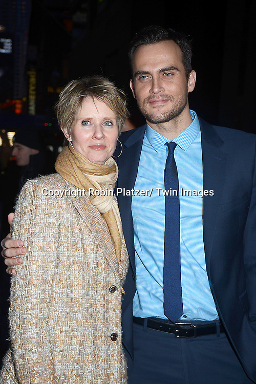 Cynthia Nixon and Cheyenne Jackson attends Rogers +  Hammerstein's Cinderella Broadway Opening night on March 3, 2013 at the Broadway Theatre in New York City.