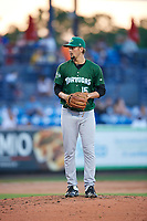 Daytona Tortugas starting pitcher Scott Moss (15) gets ready to deliver a pitch during a game against the St. Lucie Mets on August 3, 2018 at First Data Field in Port St. Lucie, Florida.  Daytona defeated St. Lucie 3-2.  (Mike Janes/Four Seam Images)