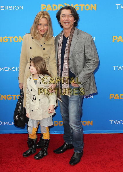 10 January  2015 - Hollywood, California - Lou Diamond Phillips, Yvonne Phillips, Isabella Phillips. &quot;Paddington&quot; Los Angeles Premiere held at TCL Chinese Theatre IMAX.  <br /> CAP/ADM/FS<br /> &copy;FS/ADM/Capital Pictures