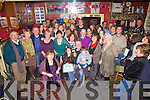A surprise 50th birthday party was held for Colman Quirke(seated front centre) in The Anchor Bar Cahersiveen on Friday night last pictured here with family and friends.