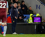 Dean Smith manager of Aston Villa shouts from the touchline during the Premier League match at the King Power Stadium, Leicester. Picture date: 9th March 2020. Picture credit should read: Darren Staples/Sportimage