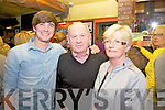 Pictured here in the Bridge Bar at the Portmagee Set Dancing weekend on Friday night last were l-r; Donal Skehan, Michael & Sheila O'Sullivan.  Donal was in Portmagee recording for Kitchen Hero series 3 which will be aired on RTE on June 11th.