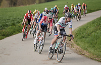 Mathieu Van Der Poel (NED/Correndon-Circus) being very active in the front group behind Peter SAGAN (SVN/BORA-Hansgrohe)<br /> <br /> 81st Gent-Wevelgem 'in Flanders Fields' 2019<br /> One day race (1.UWT) from Deinze to Wevelgem (BEL/251km)<br /> <br /> ©kramon