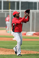 Johnny Cueto. Cincinnati Reds spring training workouts at the Reds new complex, Goodyear, AZ - 02/19/2010.Photo by:  Bill Mitchell/Four Seam Images.