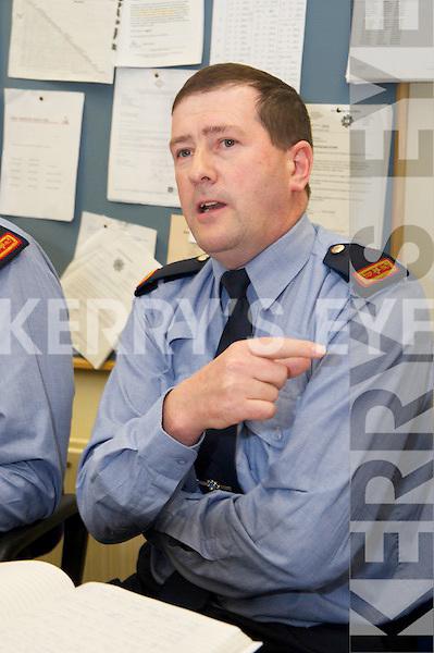 GARDAI: Speaking to the media at the Garda Press Conference in Killorglin Garda Station on Monday Inspector Donal Ashe
