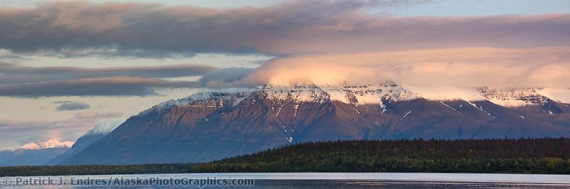 Mount Katolinat, Kejulik mountains, Naknek lake, Katmai National Park, Alaska.
