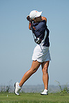 April 14, 2015; Ventura, CA, USA; Pepperdine Waves golfer Katherine Zhu during the WCC Golf Championships at Saticoy Country Club.