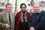 Mayor Paul Bell, Kenya Ambassador Catherine Muigai Mwangi and Brian Hanratty at the Reception for the Kenyan Ambassador to Ireland in the Droichead Arts Centre...(Photo credit should read Jenny Matthews www.newsfile.ie)....This Picture has been sent you under the condtions enclosed by:.Newsfile Ltd..The Studio,.Millmount Abbey,.Drogheda,.Co Meath..Ireland..Tel: +353(0)41-9871240.Fax: +353(0)41-9871260.GSM: +353(0)86-2500958.email: pictures@newsfile.ie.www.newsfile.ie.