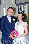 Lorraine Levins, Knocknagoshel and Martin Griffin, Castlemaine, who were married in Kiltallagh church, Castlemaine on Saturday, Fr Luke Roche officiated at the ceremony, best man was Brendan Griffin, groomsman was Paul Teahan bridesmaids were Caroline Lane and Grainne Dunne, flowergirls were Dawn and Molly Teahan, Ava Courtney, Grace Barry and Kaelyn Lane, pageboy was Daniel Barry, the reception was held in the Killarney Heights Hotel and the couple will live in Castlemaine