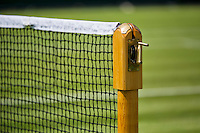 England, London, 25.06.2014. Tennis, Wimbledon, AELTC, Netpost with net<br /> Photo: Tennisimages/Henk Koster