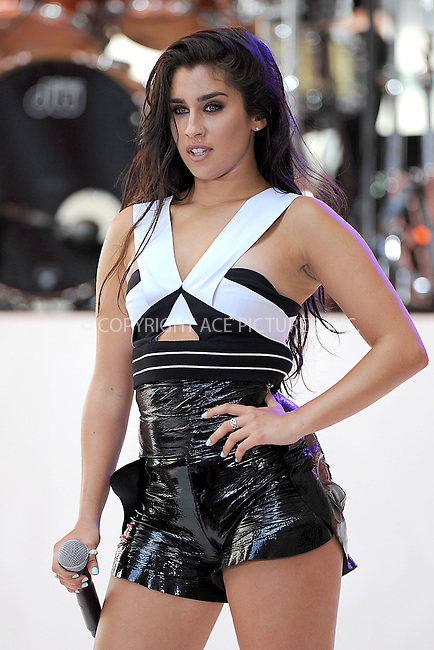WWW.ACEPIXS.COM<br /> July 10, 2015 New York City<br /> <br /> Lauren Jauregui of Fifth Harmony performing in Concert on NBC's 'Today' at Rockefeller Plaza on July 10, 2015 in New York City.<br /> <br /> Credit: Kristin Callahan/ACE Pictures<br /> Tel: (646) 769 0430<br /> e-mail: info@acepixs.com<br /> web: http://www.acepixs.com