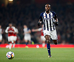 West Brom's Allan Nyom in action during the premier league match at the Emirates Stadium, London. Picture date 25th September 2017. Picture credit should read: David Klein/Sportimage