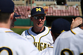 Rich Maloney #2 of the Michigan Wolverines during the Big East-Big Ten Challenge vs. the St. John's Red Storm at Al Lang Field in St. Petersburg, Florida;  February 19, 2011.  St. John's defeated Michigan 13-6.  Photo By Mike Janes/Four Seam Images