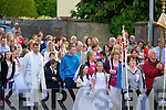 Large crowd who took part in the St John's Corpus Christi Pocession from St John's Church Tralee to Ard na Li? Oakpark, Tralee on Saturday evening...................................... ....