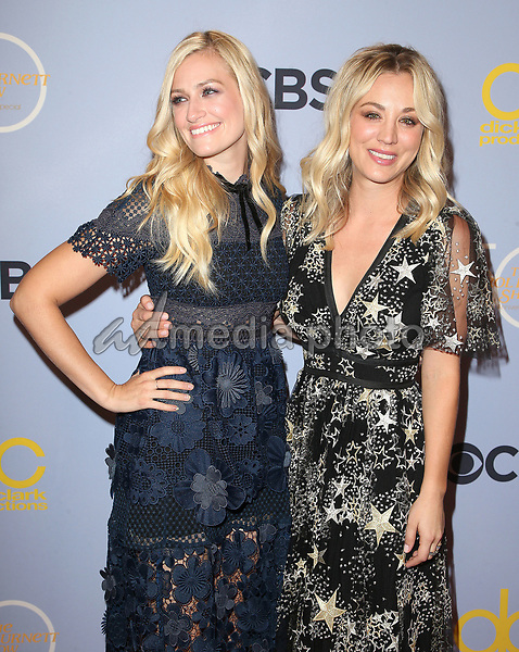 "04 October 2017 - Los Angeles, California - Beth Behrs, Kaley Cuoco. CBS ""The Carol Burnett Show 50th Anniversary Special"". Photo Credit: F. Sadou/AdMedia"