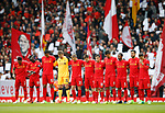 Liverpool players hold a minutes silence for Ronnie Moran who died earlier this week during the English Premier League match at Anfield Stadium, Liverpool. Picture date: April 1st 2017. Pic credit should read: Simon Bellis/Sportimage
